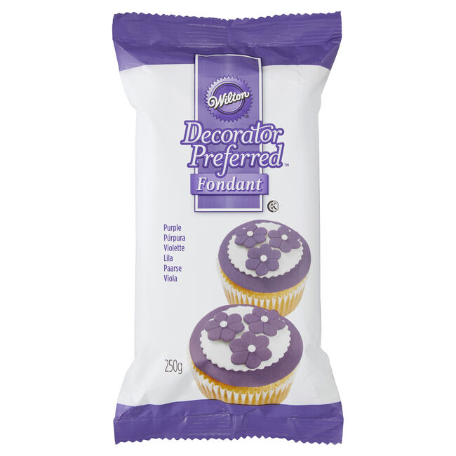 Decorated Preferred Purple Fondant