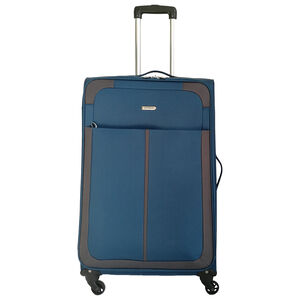 Large Teal/Grey Lightweight Suitcase