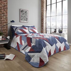 Jason Bedspread 200x220cm - Navy/Berry