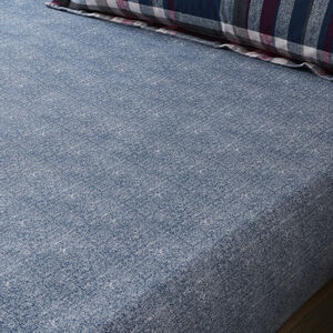 BRUSHED COTTON MATTHEWS CHECK Single Fitted Sheet
