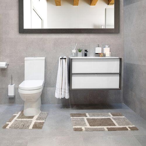 Squares Bath Mat Natural