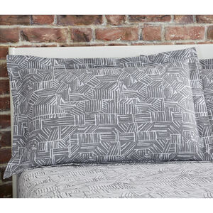 Brian Oxford Pillowcase Pair - Grey