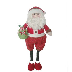 Extendable Red and Green Santa 30""