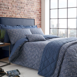 DOUBLE DUVET COVER Armadillo Scale Navy