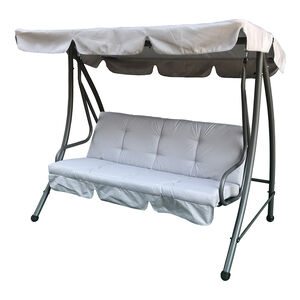 Luxury Grey 3 Seater Swing Chair