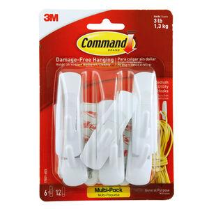 Command 12 Medium Strips & 6 Hooks