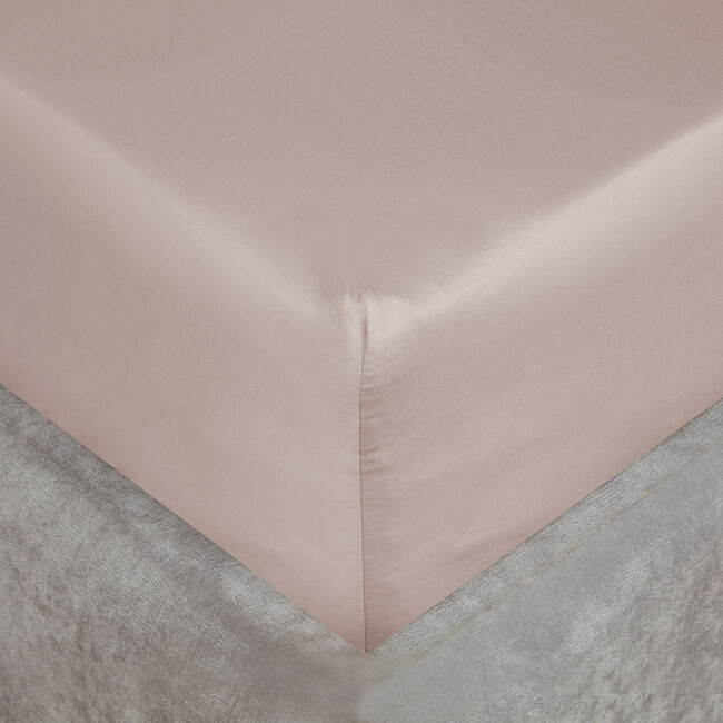 SB FITTED SHEET 500 Threadcount Cotton Blush 8A