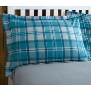 Brushed Cotton Hooper Check Oxford Pillowcase Pair