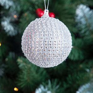 Diamante Tree Ornament - Silver