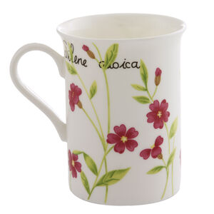 Vintage Botanical Bone China Mug
