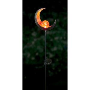 Crescent Sculpture Solar Stake Light