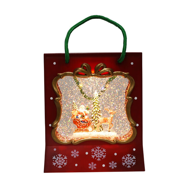 Light up Musical Christmas Gift Bag Scene