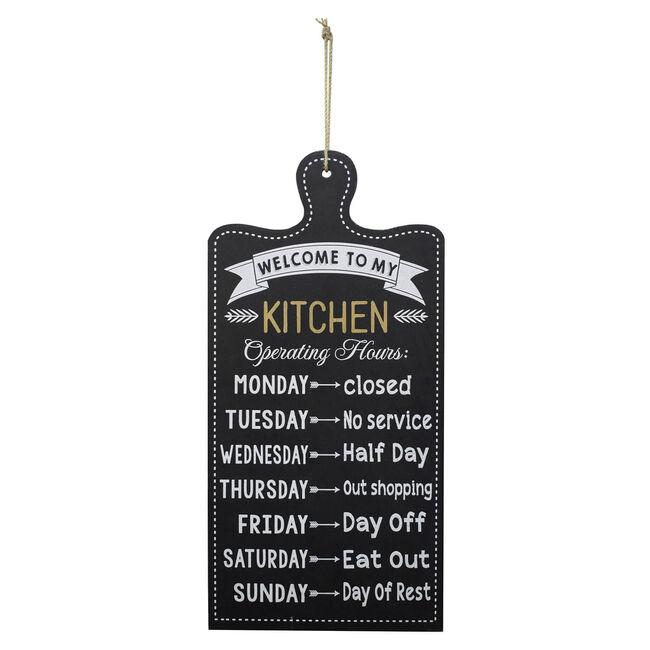 Kitchen Schedule 48x24cm