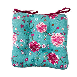 Floral Admiration Kitchen Seat Pad - Teal