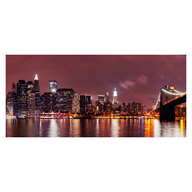 Manhattan Night Canvas 50cm x 100cm