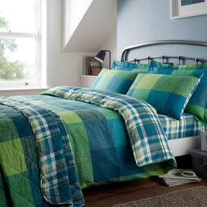 SINGLE DUVET COVER Brushed Cotton Harry Check