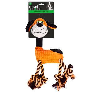 Rope Leg Dog Toy With Squeaker - Orange