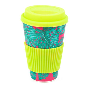 Tropical Leaves Bamboo Sippy Mug