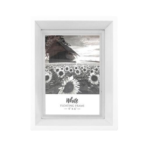4x6 FLOATING WHITE Matt Frame