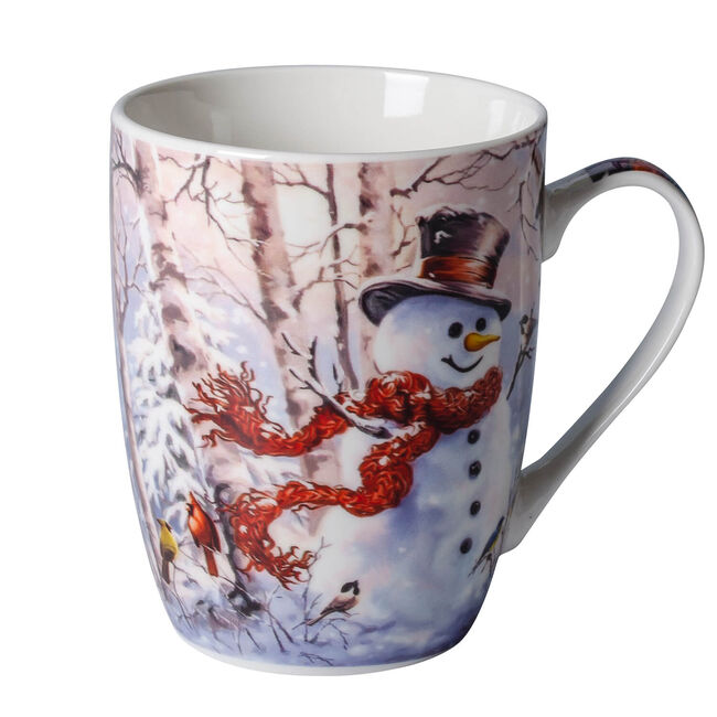 Love Christmas Snowman in The Forest Mug