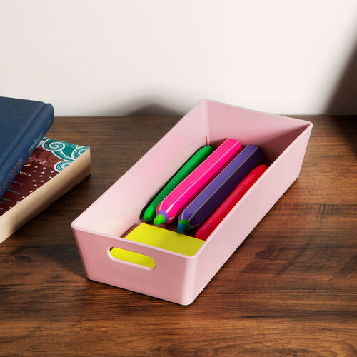Studio Rectangular Basket 1L - Pink