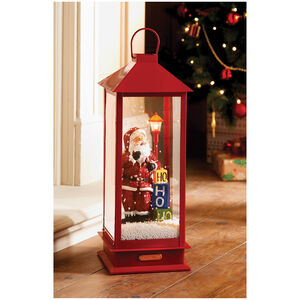 Red Snowing Musical Lantern 48cm