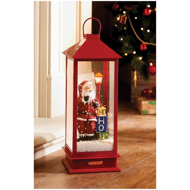 Red Snowing Musical Lantern 48cm