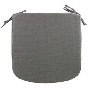 Woven Charcoal Kitchen Seat Pad