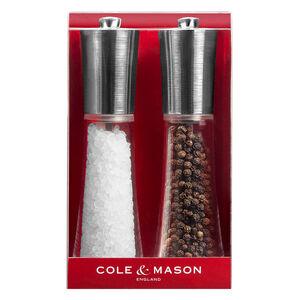 Cole & Mason Chrome Clear Salt & Pepper Mill Set