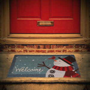Snowman Welcome Door Mat 40cm x 70cm