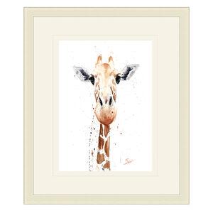 Giraffe Framed 38cm x 48cm