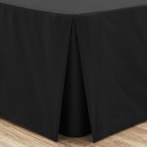 SINGLE PLATFORM VALANCE Luxury Percale Black