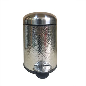 Hammered SS Dome Lid Pedal Bin 3L