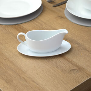 ABNEY & CROFT WHITE Gravy Boat with Stand