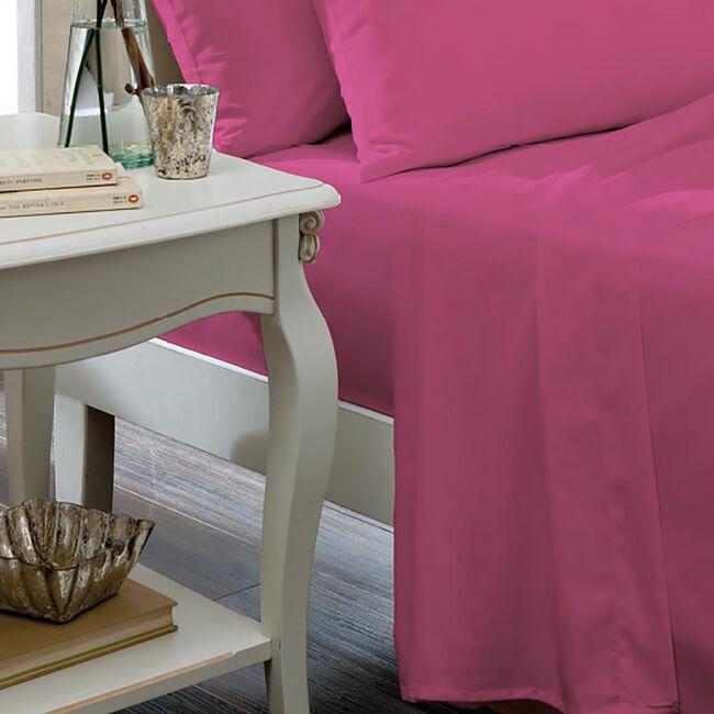 KING SIZE FLAT SHEET Luxury Percale Hot Pink
