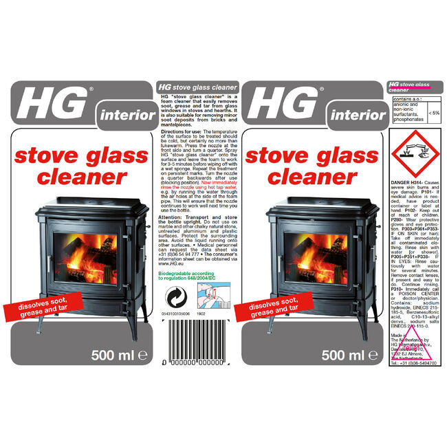 HG Stove Glass Cleaner 500ml