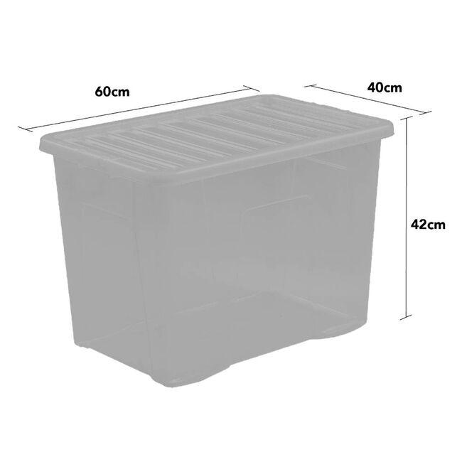 Crystal Box & Lid 80L - Slate