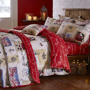 Single Duvet Cover Vintage Santa
