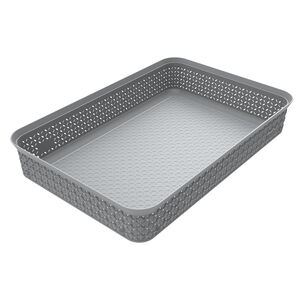 Ezy Mode A4 Storage Tray Stackable Stone Grey