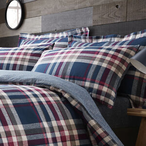 Brushed Cotton Matthews Check Oxford Pillowcases