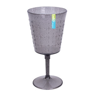 Glitter Wine Goblet - Grey