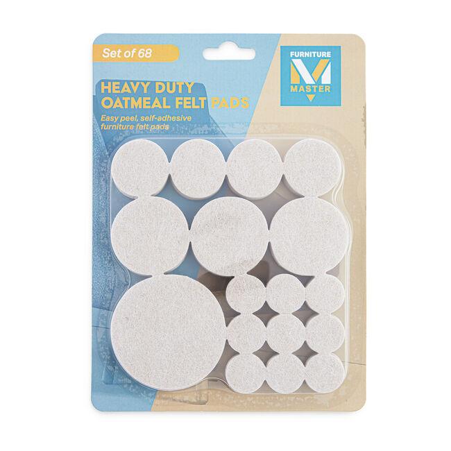 Heavy Duty Felt Pads 68 Pack - Oatmeal