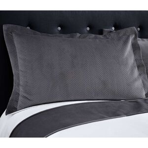Ribeiro Velvet Pillowshams Grey 50 x 75cm