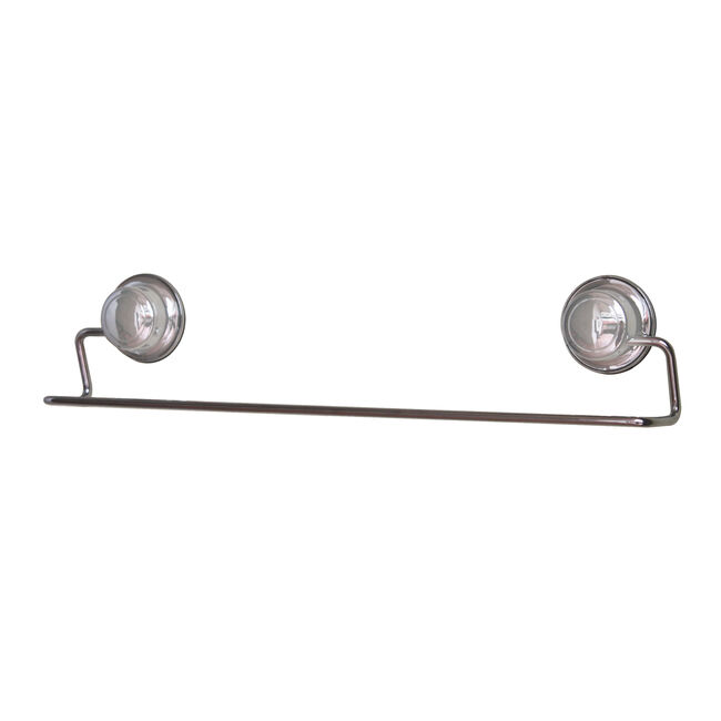 Chrome Towel Bar with Suction Fix