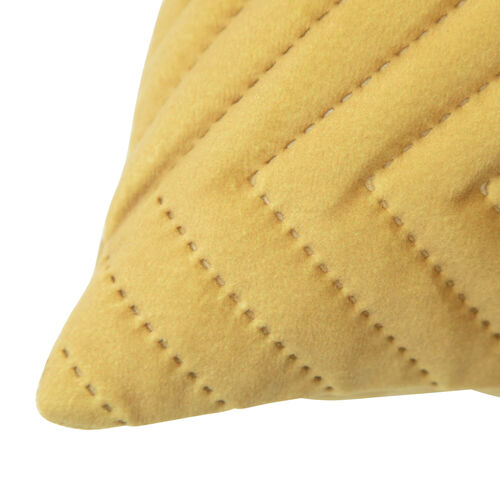 Triangle Stitch Cushion 58x58cm - Tawny Olive