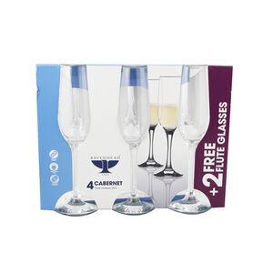 Cabernet Flute Glasses 4 Pack
