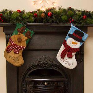 Christmas Applique Stocking 3D