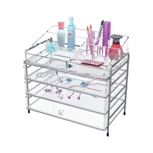 Clear Cosmetic Organiser 3 Drawer
