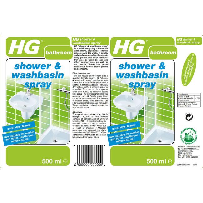 HG Shower and Washbasin Spray 500ml