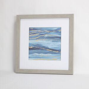 Blue Hues Framed Print 55x55cm